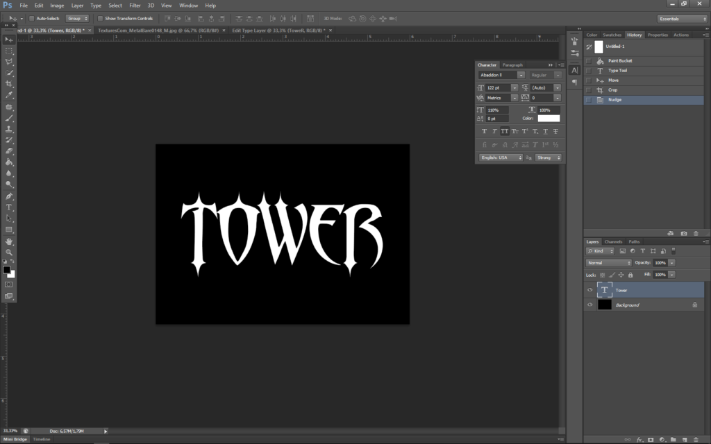 How to create metal text effect for the fantasy book cover